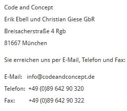 CoAnCo Contact DE